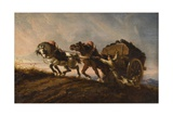 Horses Straining at a Load, 1864 Giclee Print by Charles Verlat