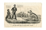 The Bull Dog on the Right Track, 1864 Giclee Print by  Currier & Ives