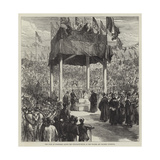 The Duke of Edinburgh Laying the Foundation-Stone of the Walker Art Gallery, Liverpool Giclee Print by Charles Robinson