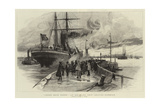 Cheer Boys Cheer, an Emigrant Ship Leaving Harbour Giclee Print by Charles William Wyllie