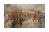 Landing of the First Canadian Division at St. Nazaire, 1915 Giclee Print by Edgar Bundy