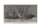 Collision Off Havre Between La Champagne and La Ville De Rio Janeiro Giclee Print by Charles William Wyllie