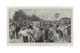 A Cattle Market in the Bavarian Alps Giclee Print by Clement Flower