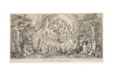 Festival of Fawn, God of the Forests, C. 1740 Giclee Print by Claude Gillot