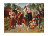 The Wrestling Scene in 'As You Like It', 1854 Giclee Print by Daniel Maclise