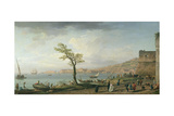 View of the Bay of Naples, 1748 Giclee Print by Claude Joseph Vernet