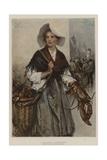 A Boulogne Fisherwoman Giclee Print by Davidson Knowles