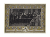 Her Majesty the Queen Investing the Emperor Napoleon III with the Order of the Garter at Windsor Ca Giclee Print by Edgar Melville Ward