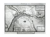 Fol.99 Map of Saint-Savinien on the Charente River in 1713, from 'Recueil Des Plans De Saintonge' Giclee Print by Claude Masse