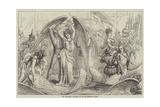 The Pantomimes, Preparing for the Transformation Scene Giclee Print by David Henry Friston