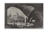Paris Improvements, the Palais De Justice, Sainte Chapelle, and Pont Au Change Giclee Print by Dieudonne Auguste Lancelot