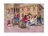 T.959 Newar Women Making Thread with the Instrument Called a Chirkaha, Nepal, 1854 Giclee Print by Dr. Henry Ambrose Oldfield