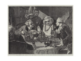 Dr Johnson's First Interview with John Wilkes Giclee Print by Edgar Melville Ward
