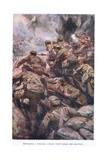 Repulsing a Frontal Attack with Rifle and Bayonet Giclee Print by Cyrus Cuneo