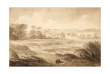 No 1 Hougomont the House and Farme Du - Gourman from the Right', 1815 Giclee Print by Denis Dighton
