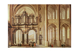 Interior of a Church Giclee Print by Dirck Van Delen