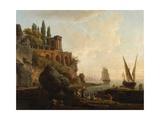 Imaginary Landscape, Italian Harbour Scene, 1746 Giclee Print by Claude Joseph Vernet