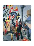 Signal Flag Hoist, C.1945 Giclee Print by Donald C. Mackay