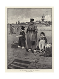 At the Ferry, a Study at Volendam Giclee Print by Dudley Hardy