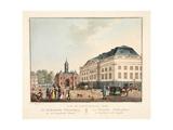 Vue D'Amsterdam No.20. De Hollandsche Schouwburg En De Leydsche Poort. Le Théatre Hollandais Et La Giclee Print by Cornelis de Kruyff
