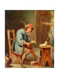 Man Playing a Fiddle, 1800-50 Giclee Print by David the Younger Teniers