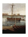 Ships Off Gun Wharf at Portsmouth, 1770 Giclee Print by Dominic Serres