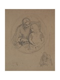 Study of a Mother and Her Child Giclee Print by Charles West Cope