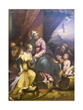 The Mystical Marriage of St Catherine, 1590 Giclee Print by Denys Calvaert