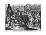 Charles Iii, Duke of Bourbon at the Sack of Rome in 1527 Giclee Print by Cornelis Boel