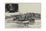 Ancient Defence and Modern Offence, Torpedo Boats Passing Upnor Castle Giclee Print by Charles William Wyllie