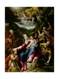 Ng 2447 Holy Family with St. John the Baptist in a Landscape, C.1593-94 Giclee Print by Denys Calvaert