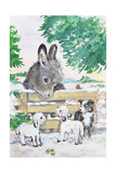 Farmyard Friends, 1996 Giclee Print by Diane Matthes