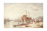 Hulk in Falmouth Harbour Giclee Print by Clarkson R.A. Stanfield