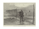 Wildfowl-Netting in Lincolnshire, a Sketch Near Boston Giclee Print by Charles Whymper