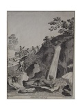 Otter Hunting, Engraved by T. Prattent, 1792 Giclee Print by Daniel Dodd