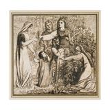 Dante's Vision of Matilda Gathering Flowers, 1855 Giclee Print by Dante Gabriel Charles Rossetti