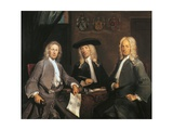 Three Governors of the Surgeons Guild in Amsterdam, 1731 Giclee Print by Cornelis Troost