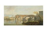 The Ponte Rotto, Rome Giclée-Druck von Claude Joseph Vernet