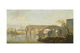 The Ponte Rotto, Rome Giclee Print by Claude Joseph Vernet