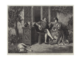 A Little Fatherly Advice Giclee Print by David Wilkie Wynfield