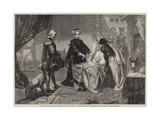 Queen Mary Quitting Stirling Castle Giclee Print by Edgar Melville Ward