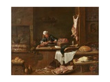 Kitchen of a Dutch Mansion Giclee Print by David the Younger Teniers