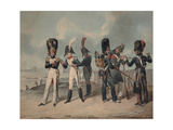 French Imperial Guard and National Guard During the Hundred Days, 1816 Giclee Print by Denis Dighton
