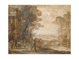 Landscape with Ascanius Shooting the Stag of Sylvia Giclee Print by Claude Lorrain