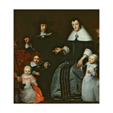 Family Portrait Giclee Print by Cornelis Bisschop