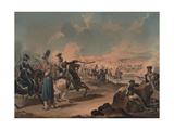 Russian Cavalry Attacking French Infantry at Borodino, 1812 Giclee Print by Denis Dighton