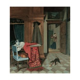 Interior with a Carpet Giclee Print by Cornelis de Man