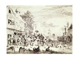 The Village Fair, 1685 Giclee Print by Cornelis Dusart