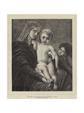 The Virgin and Child and St John Giclée-Druck von Charles Verlat