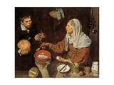 An Old Woman Cooking Eggs, 1618 Giclée-Druck von Diego Rodriguez de Silva y Velazquez